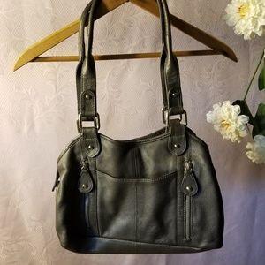 Great American Leather Works Gray Handbag